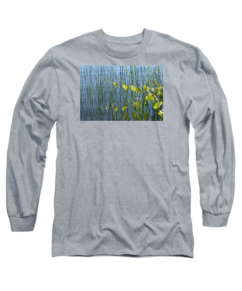 Long Sleeve T-Shirt featuring the photograph Land And Water Plants  by Lyle Crump