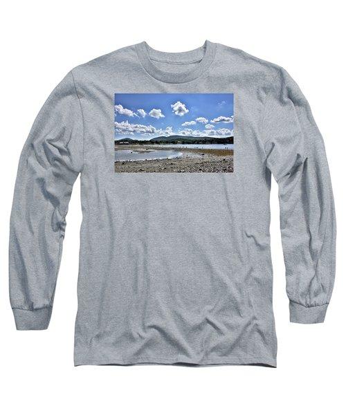 Land Bridge From Bar Harbor To Bar Island - Maine Long Sleeve T-Shirt by Brendan Reals