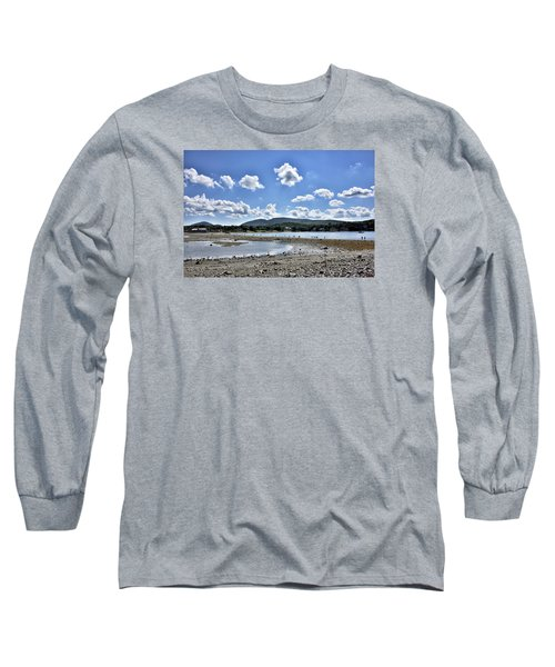 Land Bridge From Bar Harbor To Bar Island - Maine Long Sleeve T-Shirt