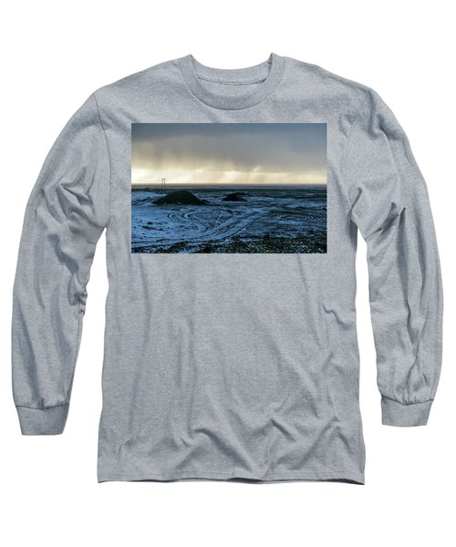 Long Sleeve T-Shirt featuring the photograph land of Lava by Dubi Roman