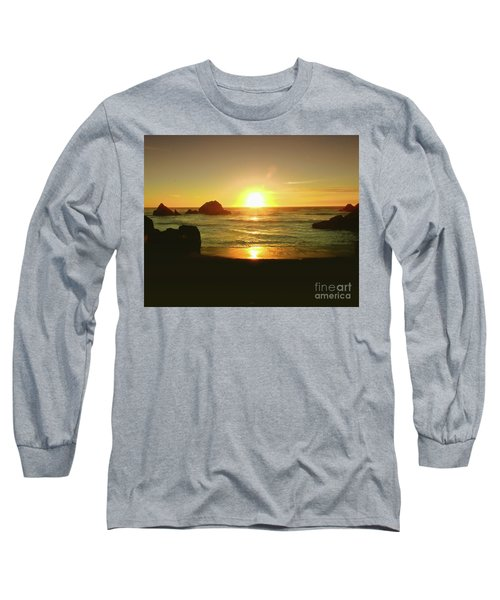 Lands End Sunset-the Golden Hour Long Sleeve T-Shirt