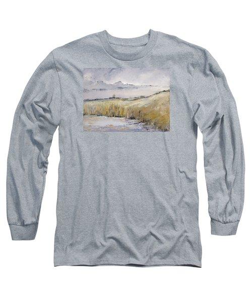 Landscape In Gray Long Sleeve T-Shirt by Carolyn Doe