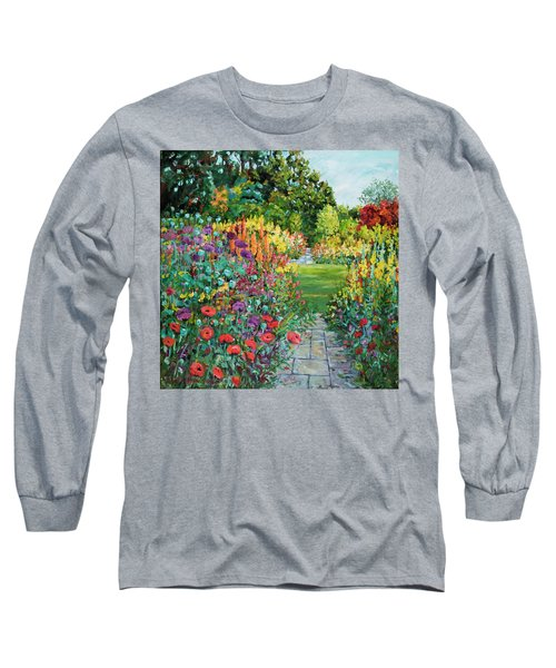 Landscape With Poppies Long Sleeve T-Shirt