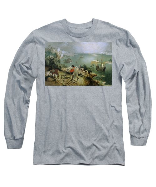 Landscape With The Fall Of Icarus Long Sleeve T-Shirt