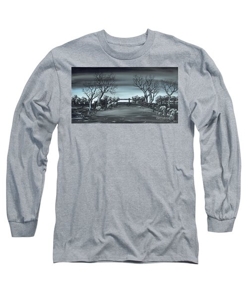 Long Sleeve T-Shirt featuring the painting Landsend by Kenneth Clarke