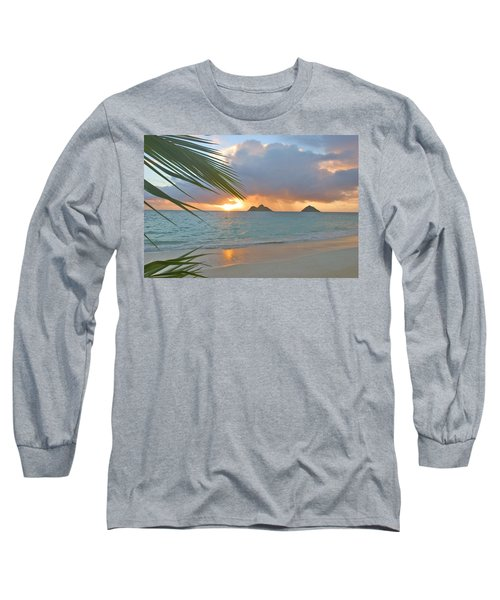 Lanikai Sunrise Long Sleeve T-Shirt by Tomas del Amo - Printscapes