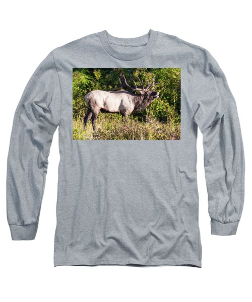Large Bull Elk Bugling Long Sleeve T-Shirt