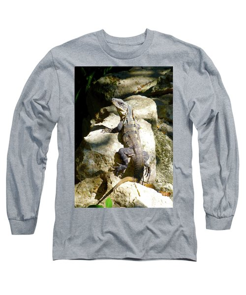 Long Sleeve T-Shirt featuring the photograph Large Lizard M by Francesca Mackenney