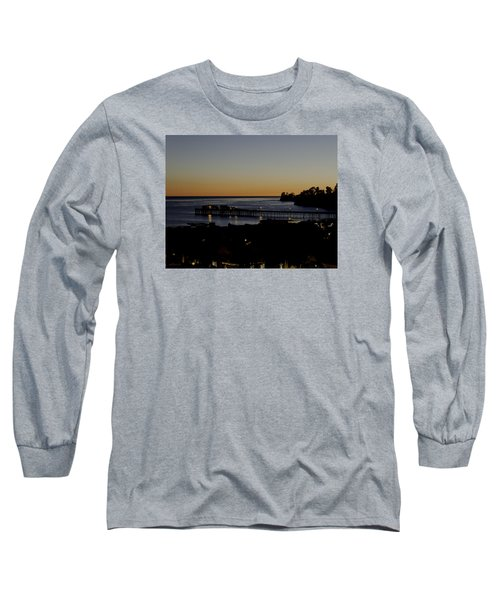 Long Sleeve T-Shirt featuring the photograph Last 2015 Sunset by Lora Lee Chapman