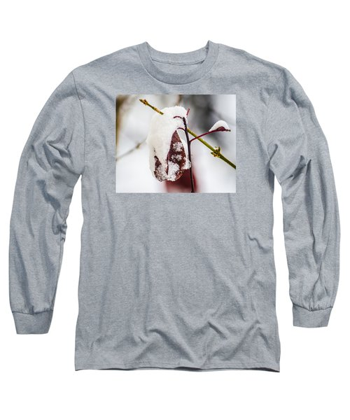 Long Sleeve T-Shirt featuring the photograph Last Of The Autumn Red by Deborah Smolinske