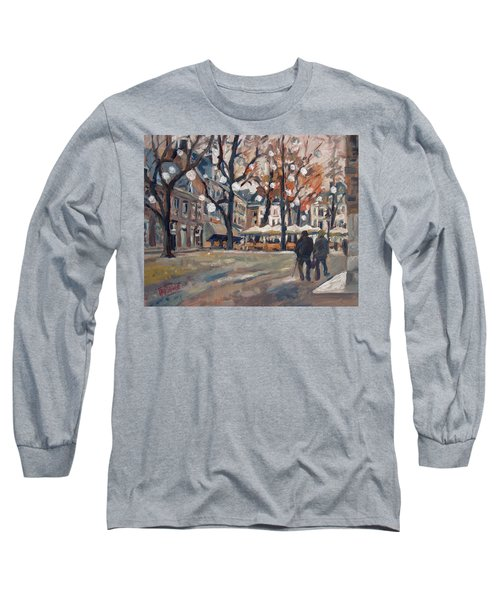 Late November At The Our Lady Square Maastricht Long Sleeve T-Shirt by Nop Briex