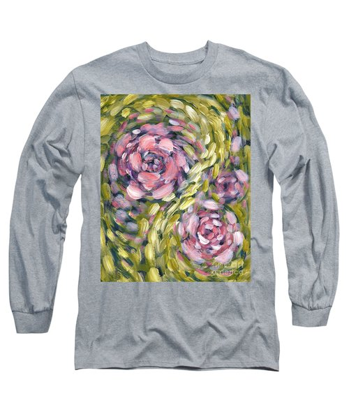 Long Sleeve T-Shirt featuring the digital art Late Summer Whirl by Holly Carmichael