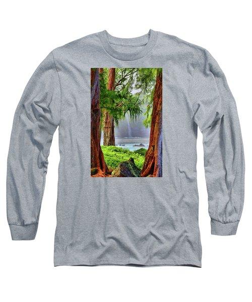 Long Sleeve T-Shirt featuring the photograph Laupahoehoe Hawaii by DJ Florek