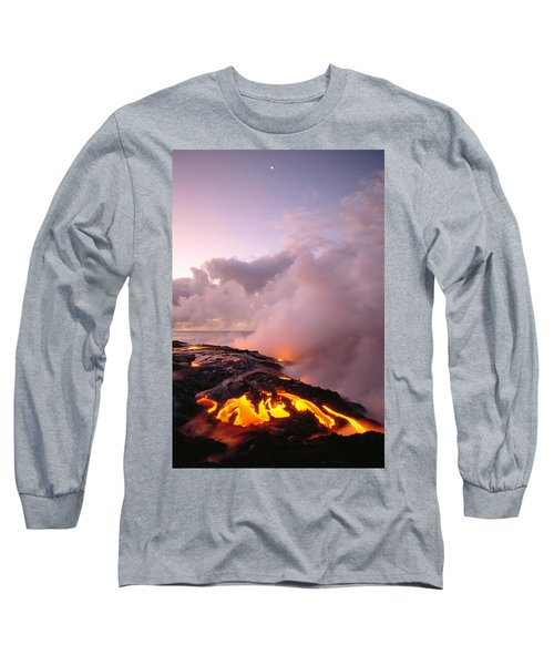 Lava Flows At Sunrise Long Sleeve T-Shirt