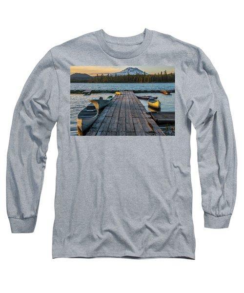Lava Lake Evening  Long Sleeve T-Shirt