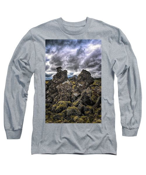Lava Rock And Clouds Long Sleeve T-Shirt