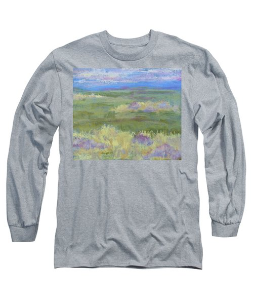 Lavender And Wheat Long Sleeve T-Shirt