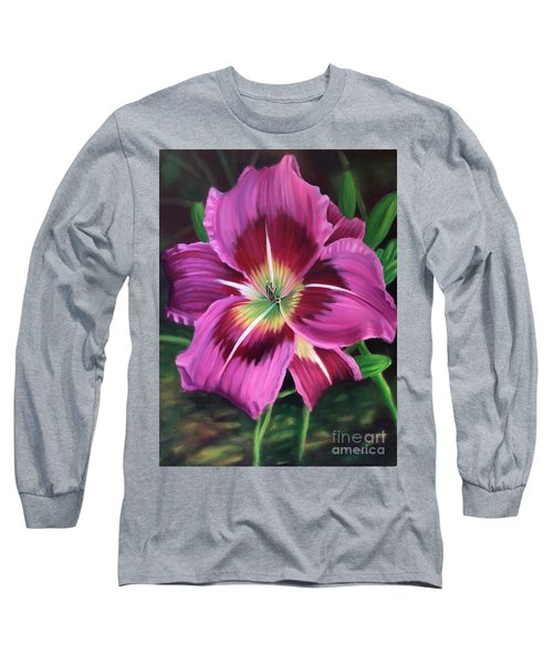 Lavender Daylily Long Sleeve T-Shirt