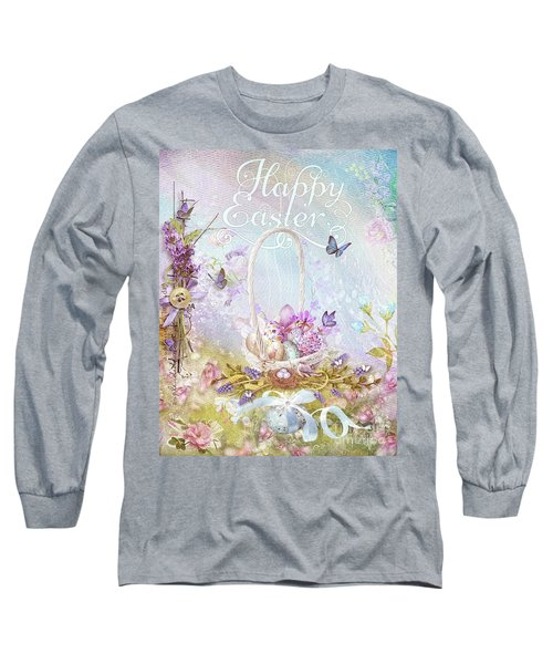 Lavender Easter Long Sleeve T-Shirt by Mo T