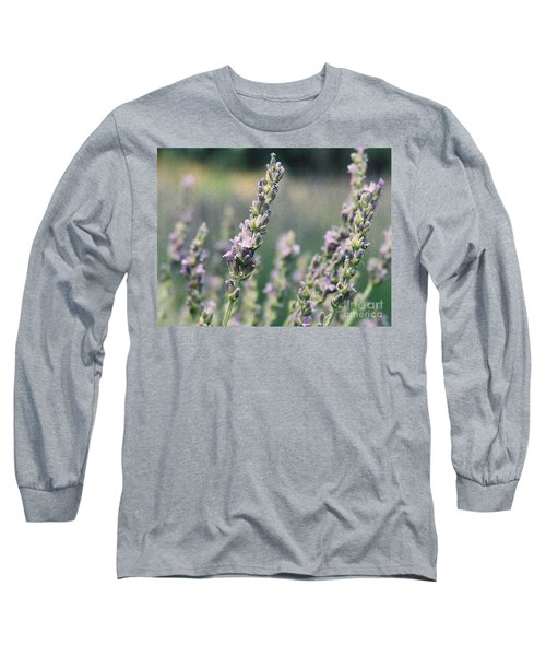 Long Sleeve T-Shirt featuring the painting Lavender by Eric  Schiabor