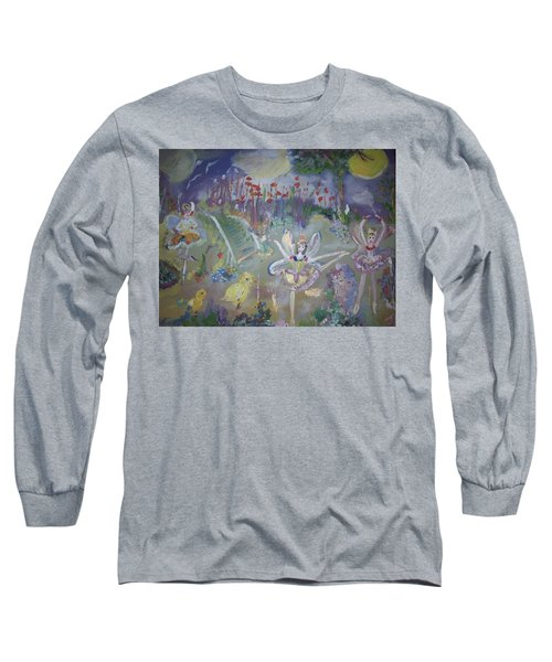 Lavender Fairies Long Sleeve T-Shirt by Judith Desrosiers