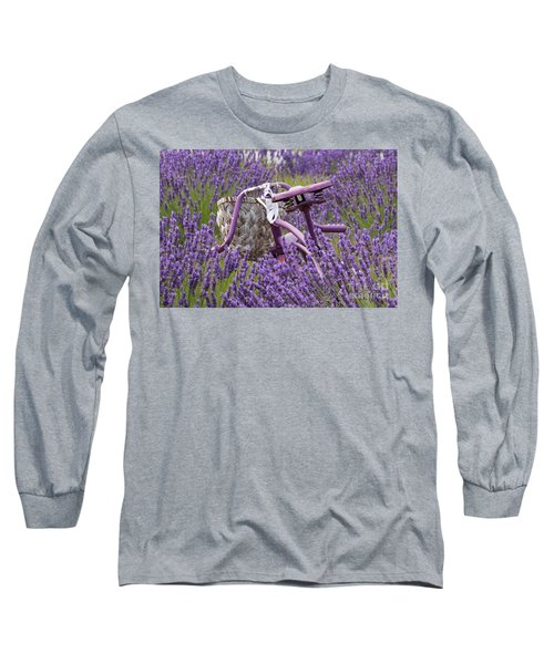 Lavender Farm Bike Long Sleeve T-Shirt