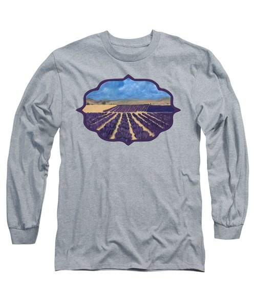 Long Sleeve T-Shirt featuring the painting Lavender Field by Anastasiya Malakhova