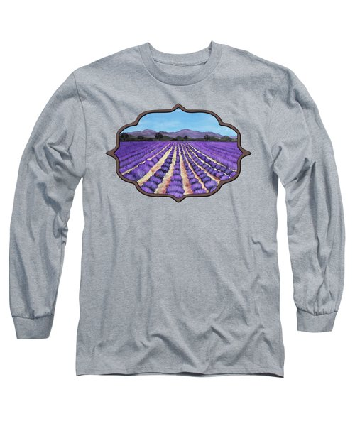 Lavender Field In Provence Long Sleeve T-Shirt by Anastasiya Malakhova