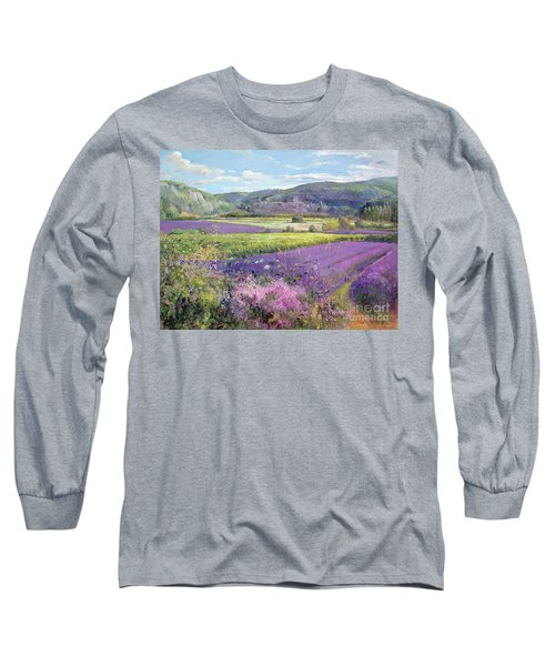 Lavender Fields In Old Provence Long Sleeve T-Shirt