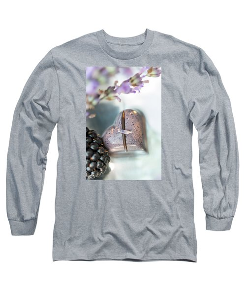 Long Sleeve T-Shirt featuring the photograph Lavender Heart by Sabine Edrissi