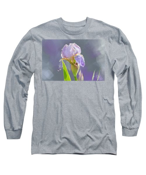 Lavender Iris In The Morning Sun Long Sleeve T-Shirt