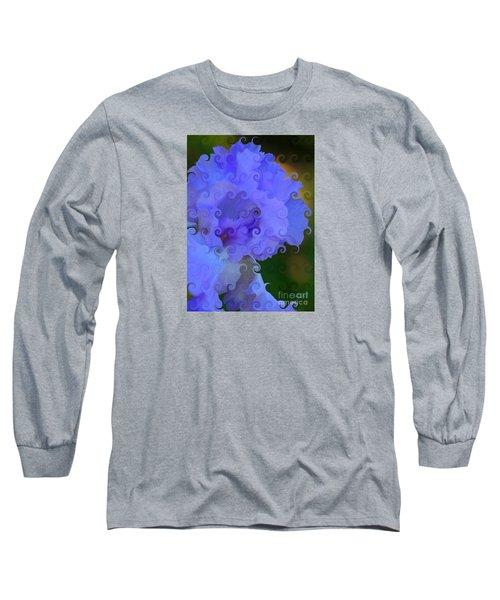 Lavender Curlicue Iris  Long Sleeve T-Shirt
