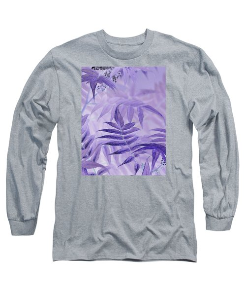 Lavender Leaves  Long Sleeve T-Shirt by Sandra Foster