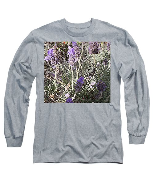 Long Sleeve T-Shirt featuring the digital art Lavender Moment by Winsome Gunning