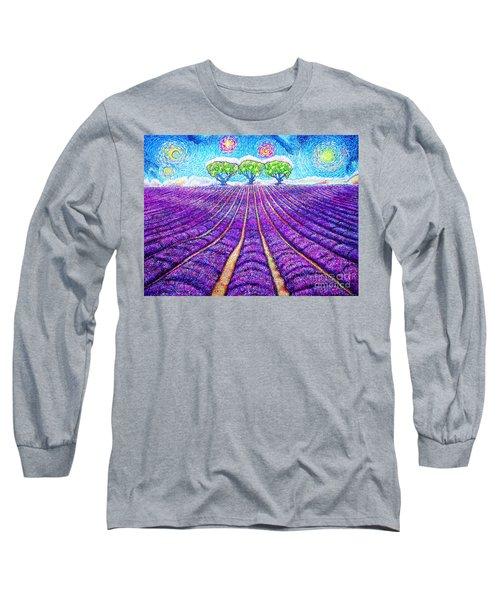 Lavender Long Sleeve T-Shirt by Viktor Lazarev