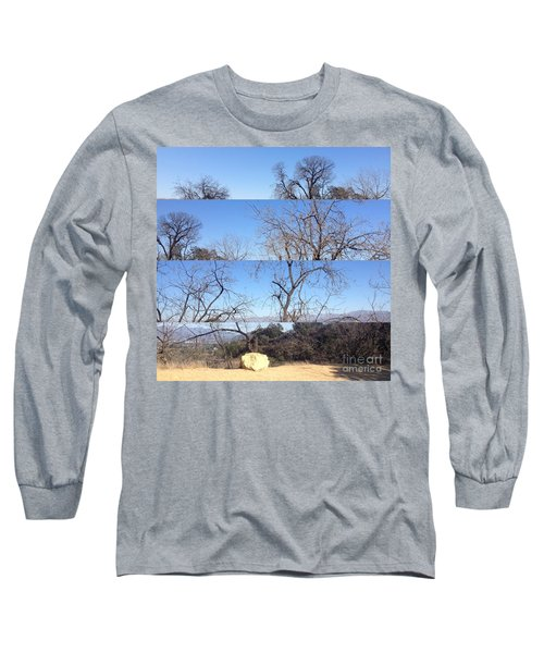 Long Sleeve T-Shirt featuring the photograph Layered Perspectives by Nora Boghossian