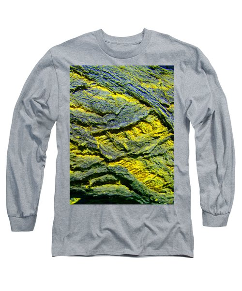 Long Sleeve T-Shirt featuring the photograph Layers In Blue And Yellow by Lenore Senior