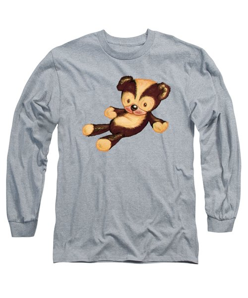 Lazy Bear Long Sleeve T-Shirt by Andy Catling
