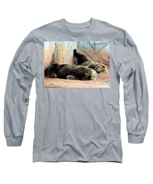 Long Sleeve T-Shirt featuring the photograph Lazy Bears by Sheila Brown