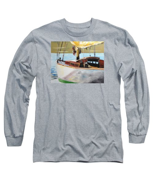 Lazy Sloop Long Sleeve T-Shirt by Stan Tenney