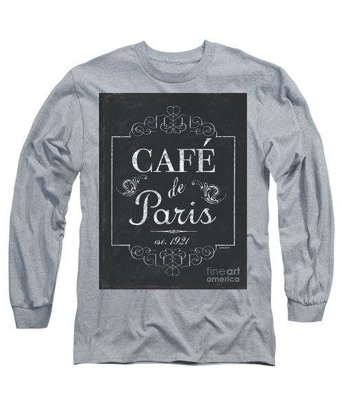 Long Sleeve T-Shirt featuring the painting Le Petite Bistro 3 by Debbie DeWitt