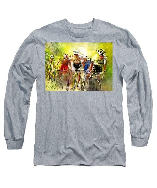 Le Tour De France 07 Long Sleeve T-Shirt by Miki De Goodaboom