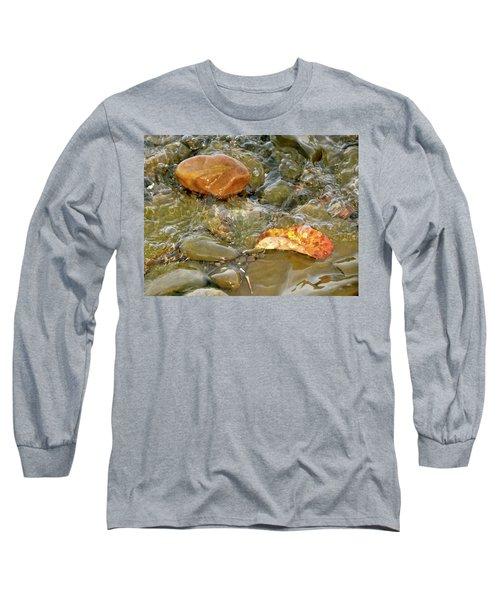 Leaf, Rock Leaf Long Sleeve T-Shirt