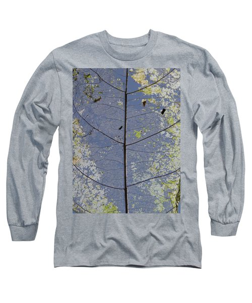 Long Sleeve T-Shirt featuring the photograph Leaf Structure by Debbie Cundy