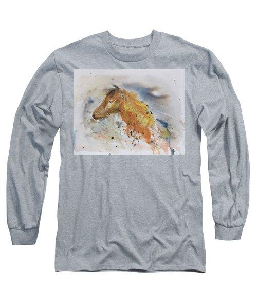 Leafy Horse Long Sleeve T-Shirt