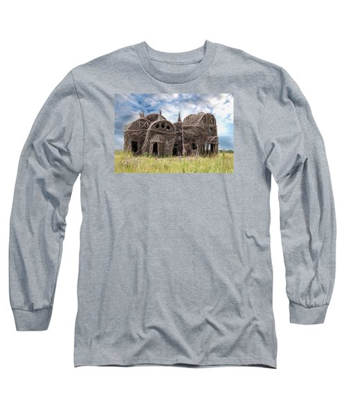 Lean On Me - Stick House Series 1/3 Long Sleeve T-Shirt by Patti Deters