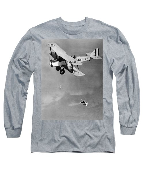 Leaping From Army Airplane Long Sleeve T-Shirt