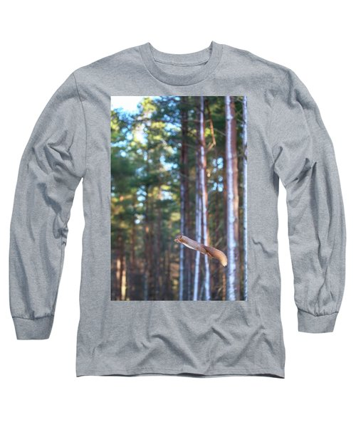 Leaping Red Squirrel Tall Long Sleeve T-Shirt
