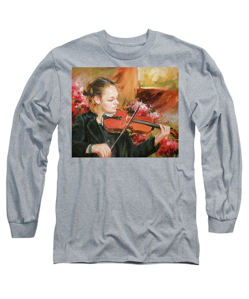 Learning The Violin Long Sleeve T-Shirt