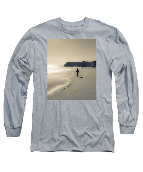 Leave Nothing But Footprints Long Sleeve T-Shirt by Alex Lapidus